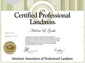 Certified Professional Landman
